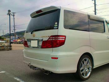 トヨタ アルファード4WD (型式:DBA-ANH15W) ヒッチメンバー取り付けレポート