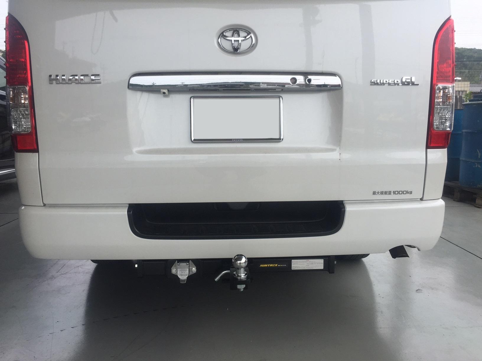トヨタ ハイエース(型式:CBF-TRH200V) ヒッチメンバー取り付けレポート